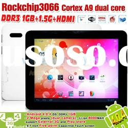 New Arrival!! 9.7inch tablet pc dual camera android 4.0 tablet pc 3066