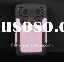 New Robot Design Two Layers Silicone+Hard Plastic Skin Back Case For Blackberry Bold 9700/9020(Pink)
