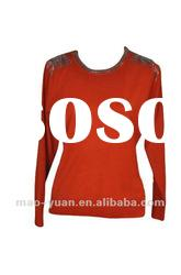Orange color women' s fashion wool sweater 2012