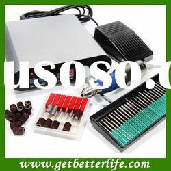 PROMOTION~ QUALITY ELECTRIC NAIL ART FILE DRILL FULL KIT WITH CE