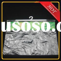 PVC packaging plastic bags for underwear packing with coat hanger