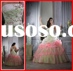 PYN2112 New One Shoulder Beaded Organza Ball Gown quinceanera dresses 2012