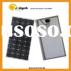 Per watt price of 130w mono solar panel