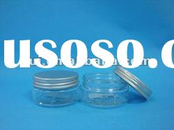 Plastic jar/50ml with aluminum cap