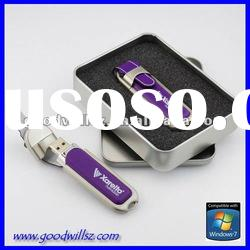Promotion gift leather USB Memory stick 1gb with logo