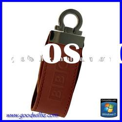 Promotional gift leather USB Flash Drive 2gb with logo