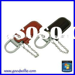 Promotional gift leather USB Flash Drive 32gb with logo