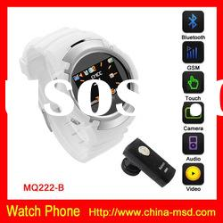 Quad band touch screen Cool desgin GSM watch phone with bluetooth function