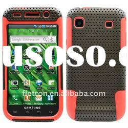 Red With Black Silicone +Hole Hard 2 in 1 Case For Samsung Galaxy S I9000