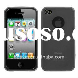 Semi Transparent gray Candy Skin Cover (Rubberized) for Apple iPhone 4, 4G, 4S