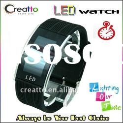 Silicone Digital Red Mirror LED Watch