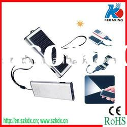 Solar Powered charger for cell phone with LED flashlight
