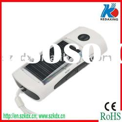 Solar charger with LED torch light for camping and FM radio function