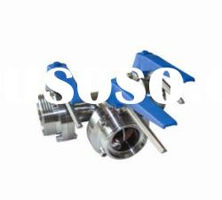 Stainless steel 3 way Male Butterfly Valve