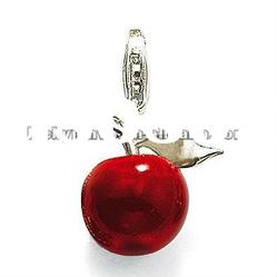TSC1009 cheap enamel zinc alloy red apple charm pendant