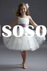 Tulle Spaghetti Strap Popular Style Flower Girl Dress WTF-39