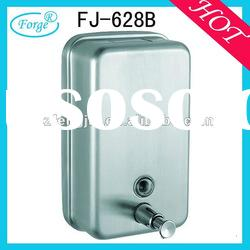 Wall Mounted Squared Top Grade Stainless Steel Liquid Soap Dispenser