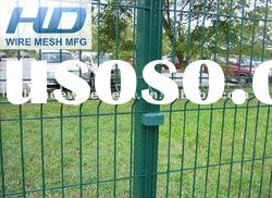 Welded curved wire mesh fence/security fence panel/galvanized and pvc cheap fence panels