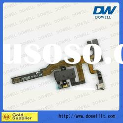 White Audio Flex Cable for iphone 4s,headphone jack for 4s,original,low price,high quality