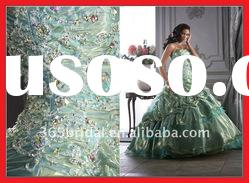 ZHX0532 Shiny Rhinestone Sequined Organza Ball Gown 2012 Qinceanera Dresses
