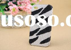 Zebra print jeweled phone cases for iphone unique phone covers