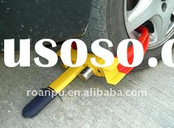 anti- theft car steering security key locks wheel clamp