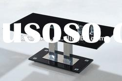black glass table / 12mm painted glass top / black glass / 20-day delivery