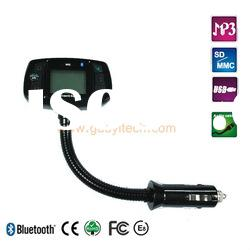 bluetooth hands free car kit FM transmitter play music with TTS