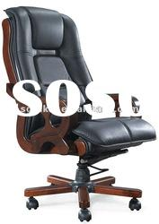 classical wooden office executive chair