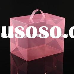 clear transparent cosmetic folding pvc box