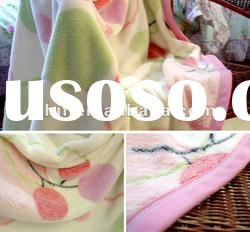 coral fleece throws and blankets/printed coral fleece blanket