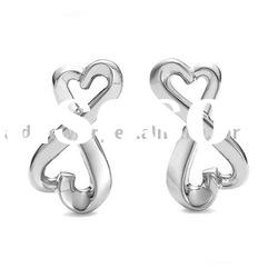 cross Jewellery Silver designer earings E030