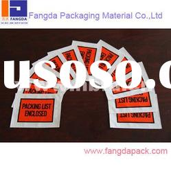 custom made self-adhesive packing list envelope with silicone paper back