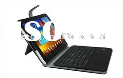 detachable bluetooth keyboard and folio leather case for Samsung galaxy tab 10.1 P7510