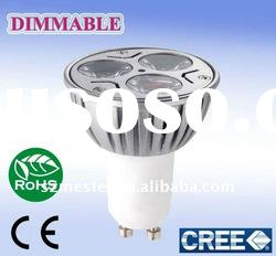 dimmable gu10 4w cree led light