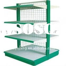 double side mesh back panel supermarket shelf