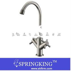 dual handle chrome 304 stainless steel Kitchen Sink mixer Faucet