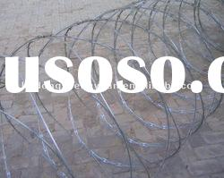 electric-galvanized concertina razor wire