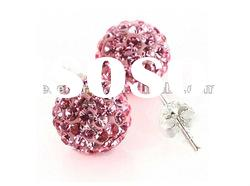 fashion jewelry cheap shamballa bead stud earring