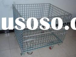 folding wire mesh pallets/mesh box pallet/metal wire mesh pallets