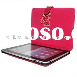 for iPad Red Luxury Crocodile Skin Real Genuine Leather Case