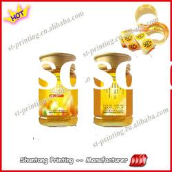 glossy food glass bottle logo adhesive paper label printing
