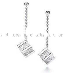 graceful design high quality 925 sterling silver earring