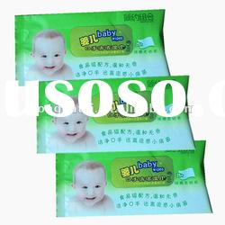 healthy mild Baby Tissue & Wipes plastic gusset packing bag