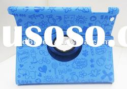 hot sales! 360 degree rotate for new ipad case , many colour available, paypal acceptable