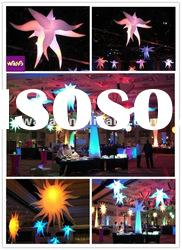 illuninator colorful inflatable star decoration/event and party star with led light