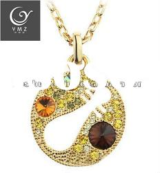 imtation jewelry ! yellow crystal fashion necklace YMZ11994