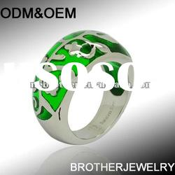 latest ring designs embedded with Enamel 316 stainless steel
