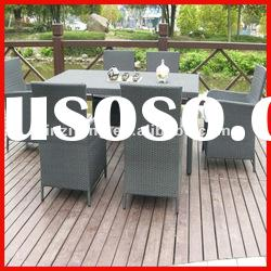 outdoor rattan furniture/6 chairs and 1 table
