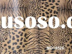 pu synthetic leather for garments in wenzhou with leopard pattern